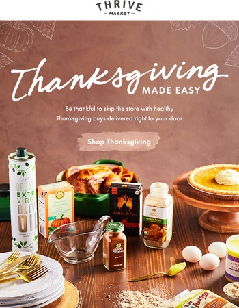Your Thanksgiving essentials (without the hassle)