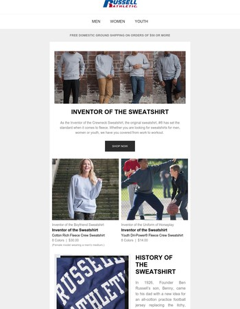 Inventors of the Sweatshirt