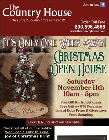Our Christmas Open House is only one week away!