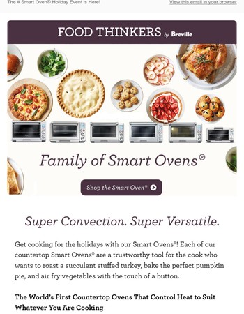 The Breville Smart Oven® Holiday Event is Here!