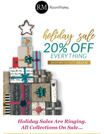 20% OFF Holiday Steals Are Have Arrived.