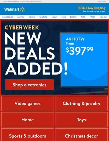 Cyber Week - 4K TVs from $397!