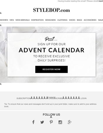 Surprises Await With Our Advent Calendar