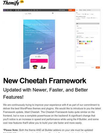 Cheetah Framework Release - Faster Builder With New Features