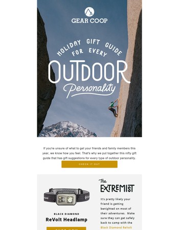 Holiday Gift Guide for Every Outdoor Personality