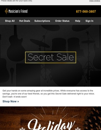 Save big: Secret Sale starts now