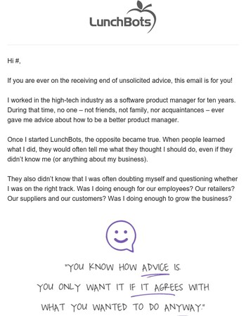 An Inside Look: Unsolicited Advice