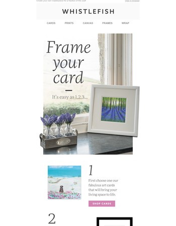 Create Your Own Fabulous Piece Of Art & Win A Years Supply of Cards!
