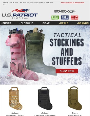We Have Tactical Stockings and Stuffers!
