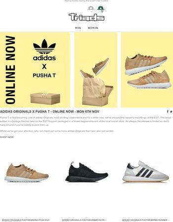 adidas Originals x Pusha T - Online Now