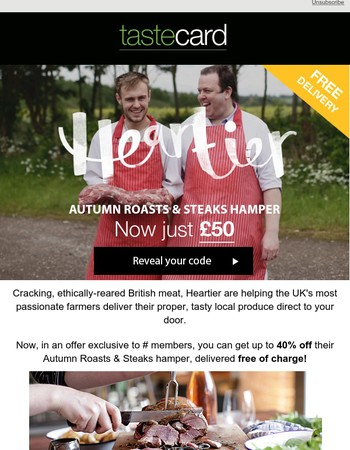 We've teamed up with Heartier to bring you up to 40% off their Autumn Hamper