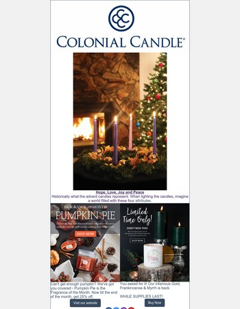 Advent Candle Sets Now Available