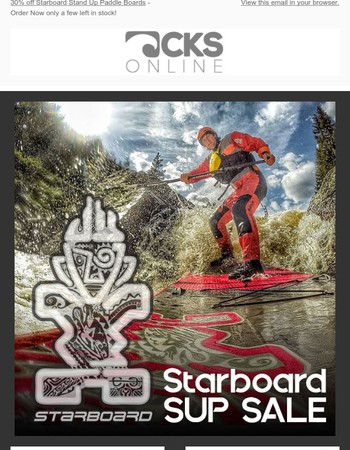 Stand Up Paddle boards 30% off - Starboard Hyper Nut, Whopper Zen, Whopper Deluxe and Blend Zen.