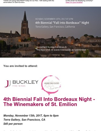 Event reminder: 4th Biennial Fall Into Bordeaux Night