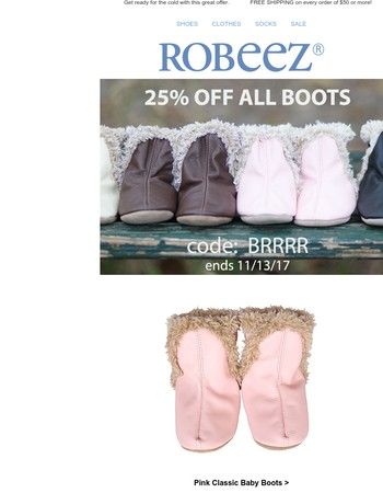 25% Off Boots!