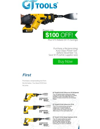 You have the Power - Save up to $175 on Power Cut Out Tools