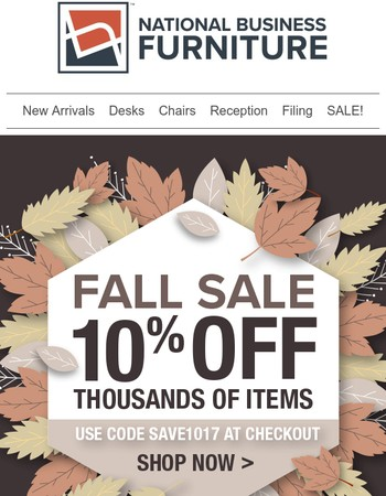 Leaves are falling, our Fall Sale is calling!