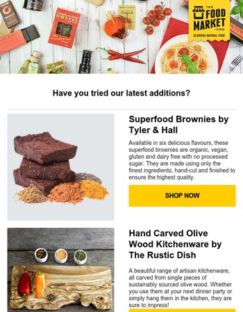 What's New at TheFoodMarket.com