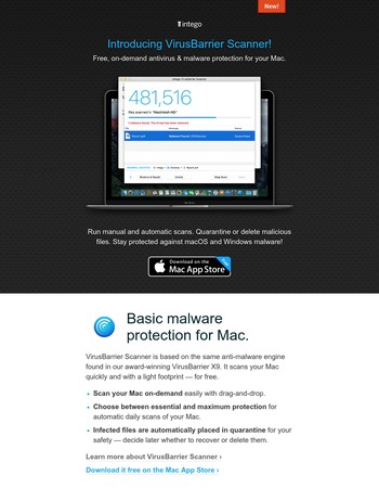 Introducing VirusBarrier Scanner, free malware protection for your Mac