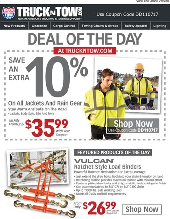 Winter Safety Apparel Sale - Save An Extra 10% Today