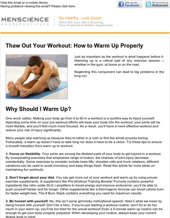 Thaw Out Your Workout: How to Warm Up Properly