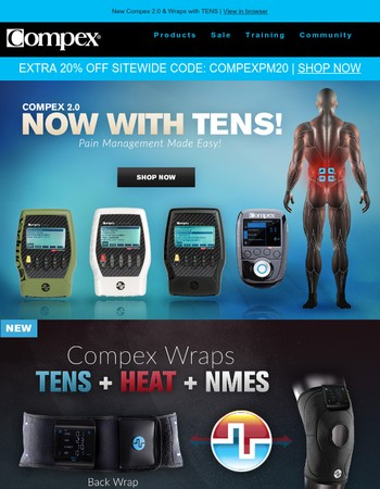 Introducing Compex 2.0 & Wraps with TENS