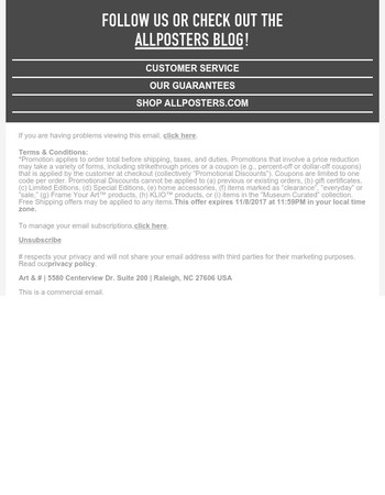 AllPosters Newsletter