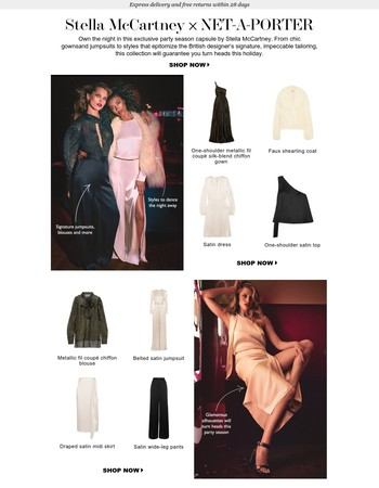 Exclusive: Own the night in Stella McCartney x NET-A-PORTER