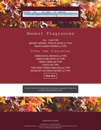 NEW Fragrances for November!