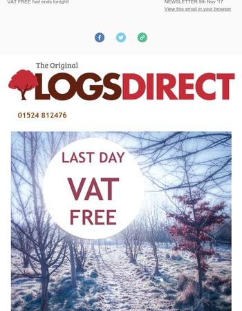 Last day of VAT FREE fuel!