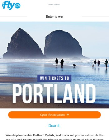 Win tickets to Portland!