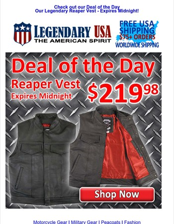 ,Deal of the Day - Reaper Vest $219.98