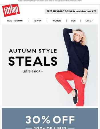Fall for this: 30% off seasonal styles