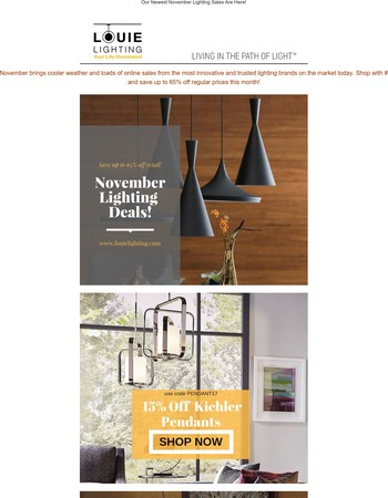 Our Newest November Lighting Sales Are Here!