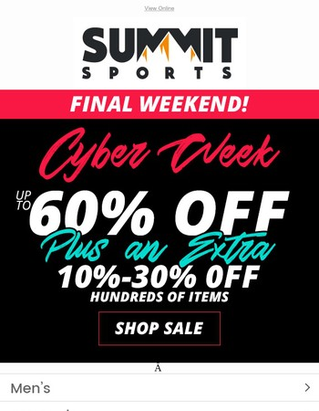 Mary Save Up To 60% OFF + Doorbuster Deals: Cyber Week Final Weekend!
