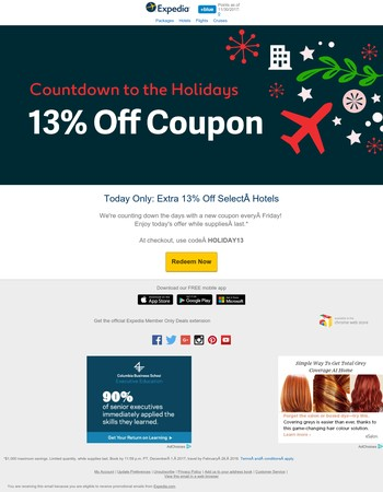 ❄ Your  today: EXTRA 13% OFF coupon ❄
