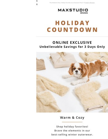 This Weekend Only | Holiday Favorites at an Exclusive Price!