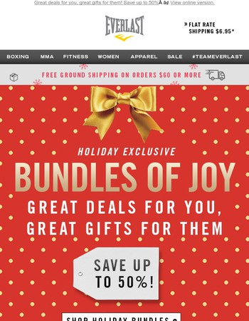 Holiday Exclusives: New Value Bundles