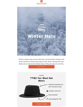 Tilley Winter Hats That We Love