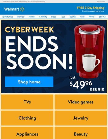 Seriously, you won't believe these Cyber savings! (Ending soon)