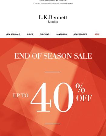 End of Season Sale: The Dress Edit