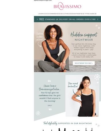 Hidden support nightwear