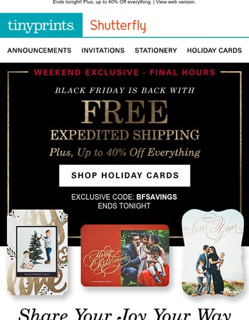 FREE Expedited Shipping, Just for You