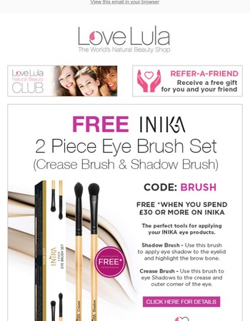 Time to Brush Up on your Make Up with this great offer from Inika