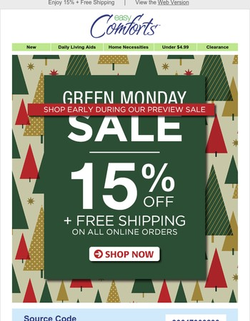 Shop Early and Save Some Green