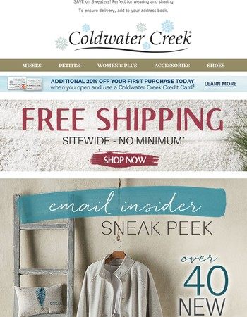 NEW Arrivals are here! + Last Day: $24.95 for Select Easy Care + FREE SHIPPING!