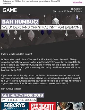 Bah Humbug! Not everyone adores the 'Fat Man'