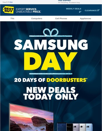 Today's the day—Score Samsung Doorbusters before they're gone