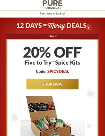 20% OFF Organic Spice Gift Sets