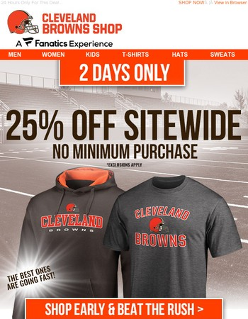 IT'S GO TIME: 25% Off SITEWIDE